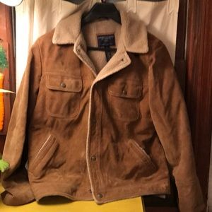 Suede Sherpa rancher coat American eagle large